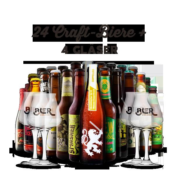 craft beer grillpaket deluxe 24 flaschen 4 gl ser bier deluxe. Black Bedroom Furniture Sets. Home Design Ideas